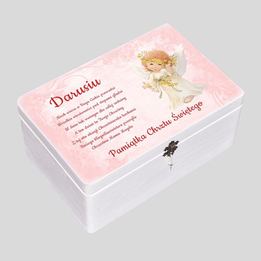 kuferek wspomnień, pudełko wspomnień różowe