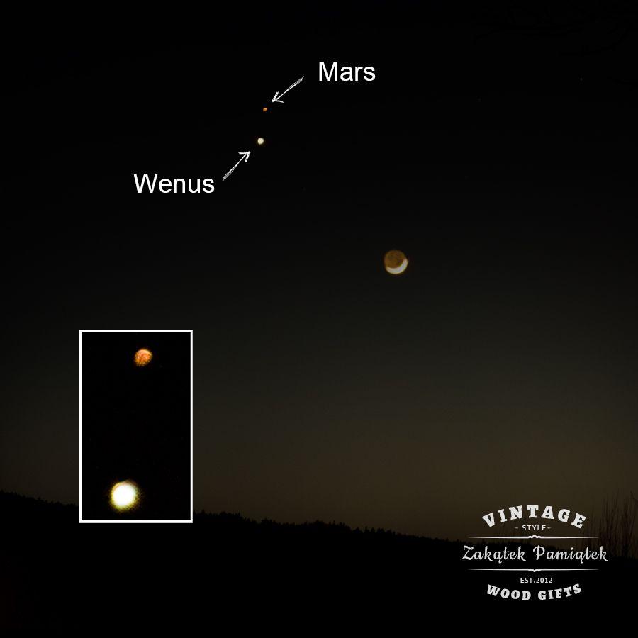 Rendez-vous Marsa i Wenus Domaradz, koniunkcja Marsa i Wenus,