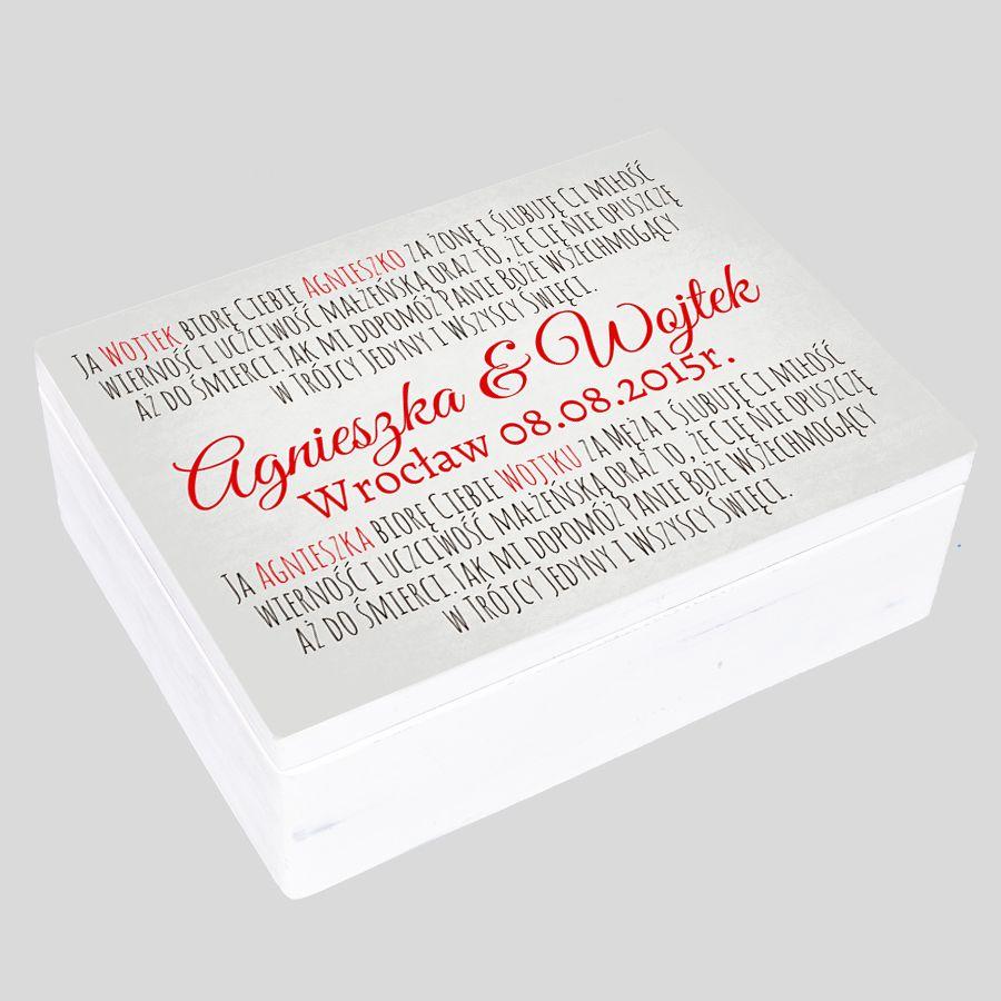 pudełko prezent na Ślub Rocznice Podziękowania