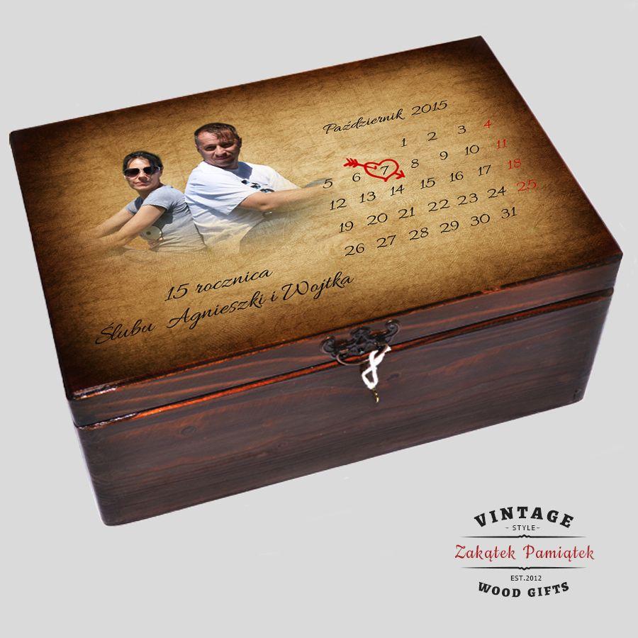 kuferek wspomnień, prezent na rocznice ślubu, pudełko wspomnień