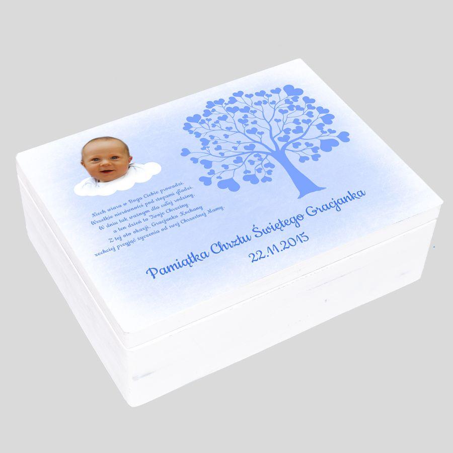 pudełko wspomnień prezent na chrzciny dla chłopca