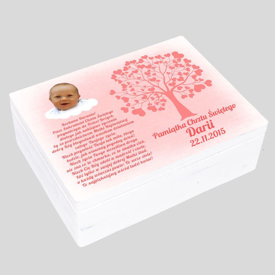 Pudełko wspomnień prezent na chrzest