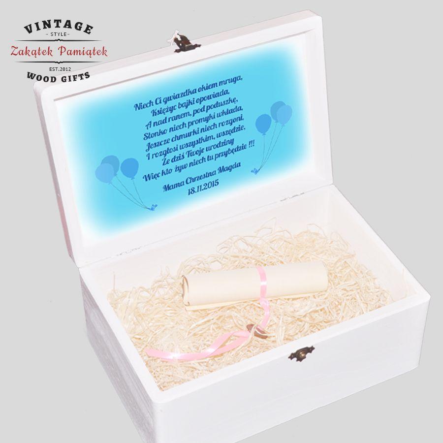 pudełko wspomnień, prezent dla dziecka,