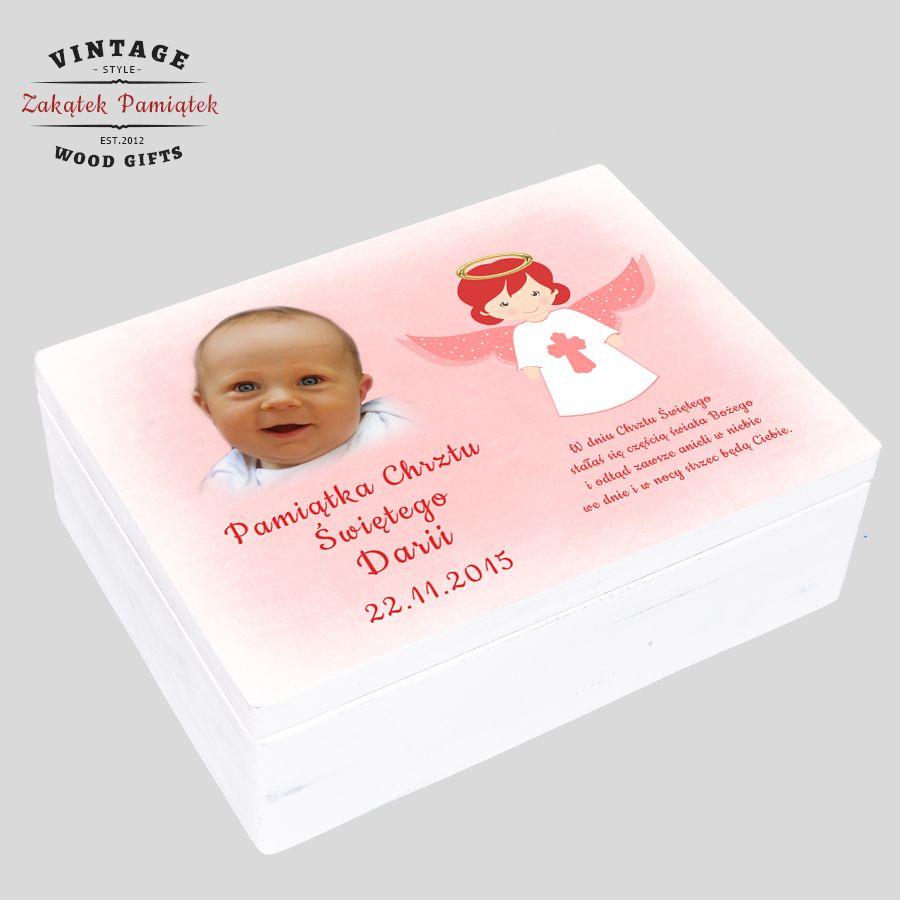 Pudełko wspomnień z Aniołem Stróżem, pudełko wspomnień dla dziewczynki