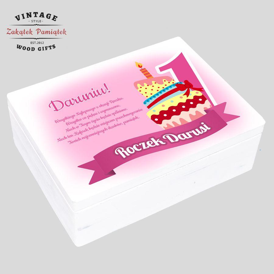 Prezent na Roczek Urodziny, dla dziewczynki, pudełko wspomnień