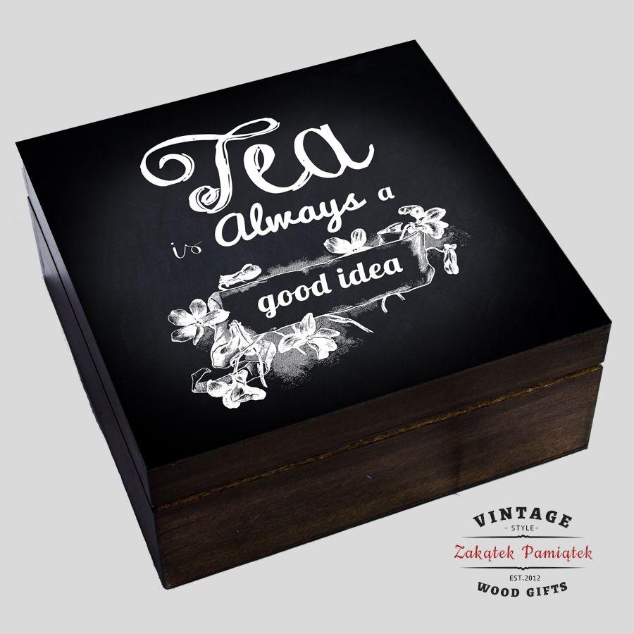 Pudełko na herbatę z Twoją dedykacją