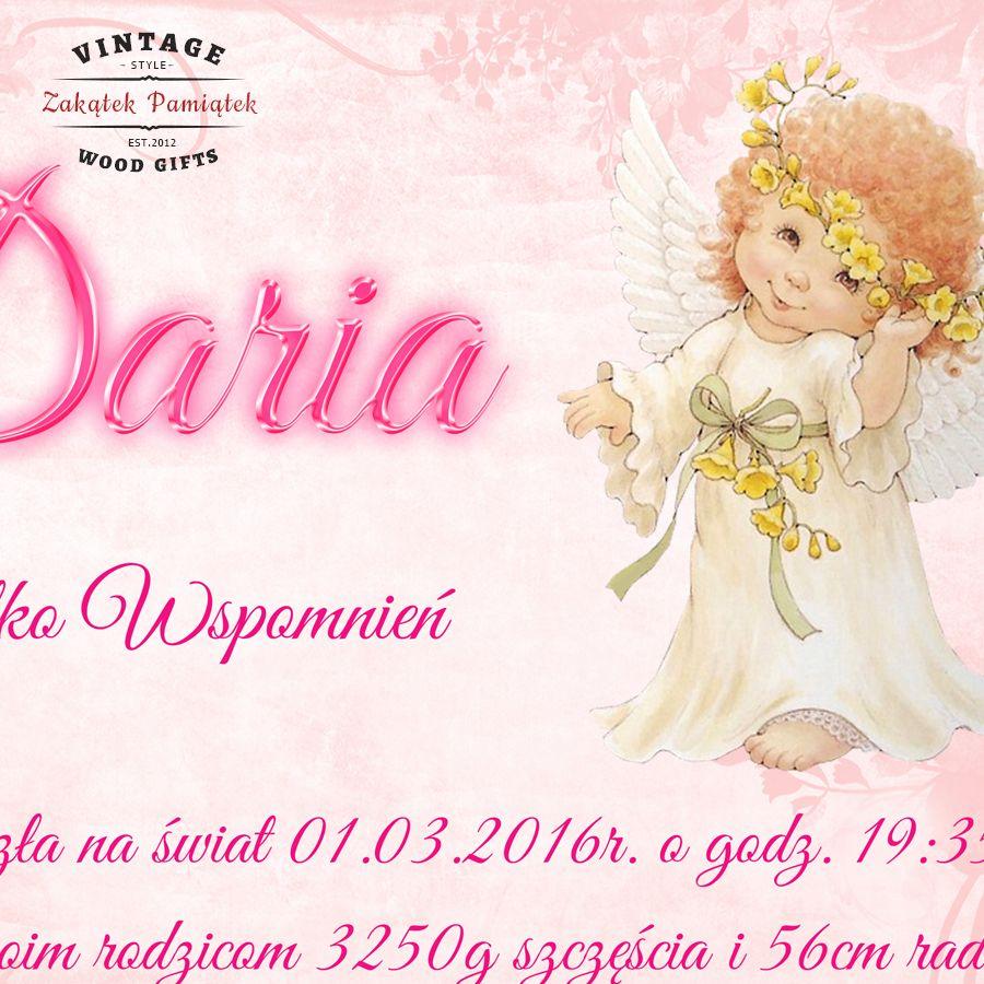 Kuferek biały różowe kwiaty z aniołkiem