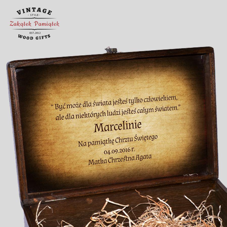Kuferek Wspomnień Vintage z Aniołkiem, środek kuferka