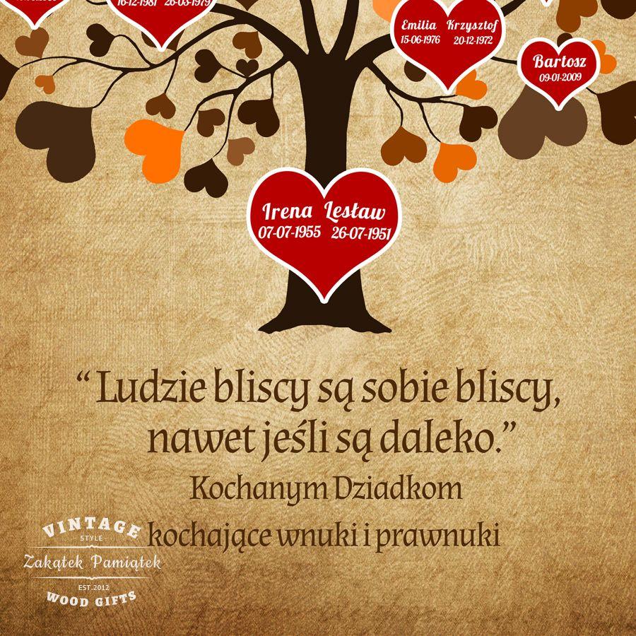Obraz drukowany na płótnie Drzewo genealogiczne serca