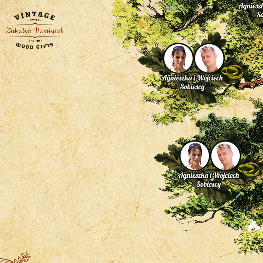 Obraz drukowany na płótnie Drzewo genealogiczne Dębowe