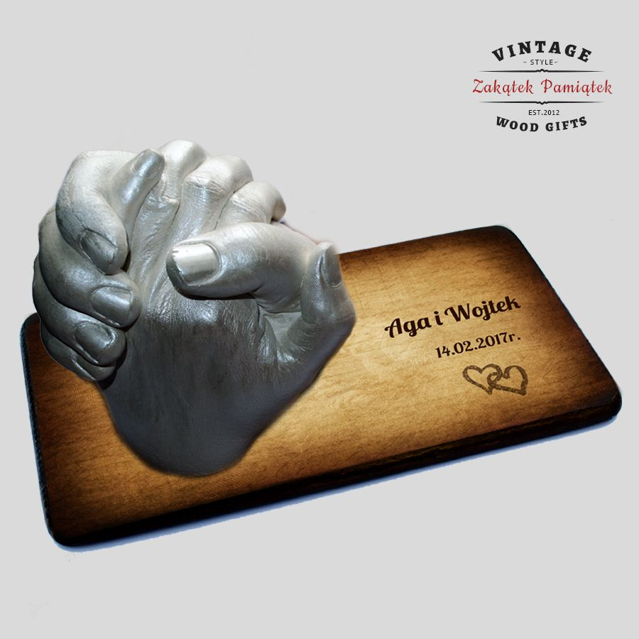 Uścisk Miłości odlew gipsowy 3D z podstawką