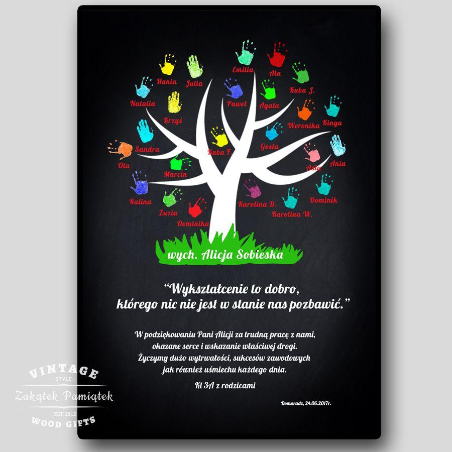 Obraz drukowany na płótnie tło tablicowe drzewo łapki