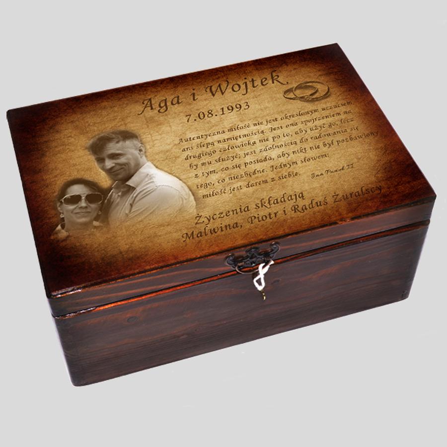 pudełko wspomnień na Ślub Rocznice Podziękowania
