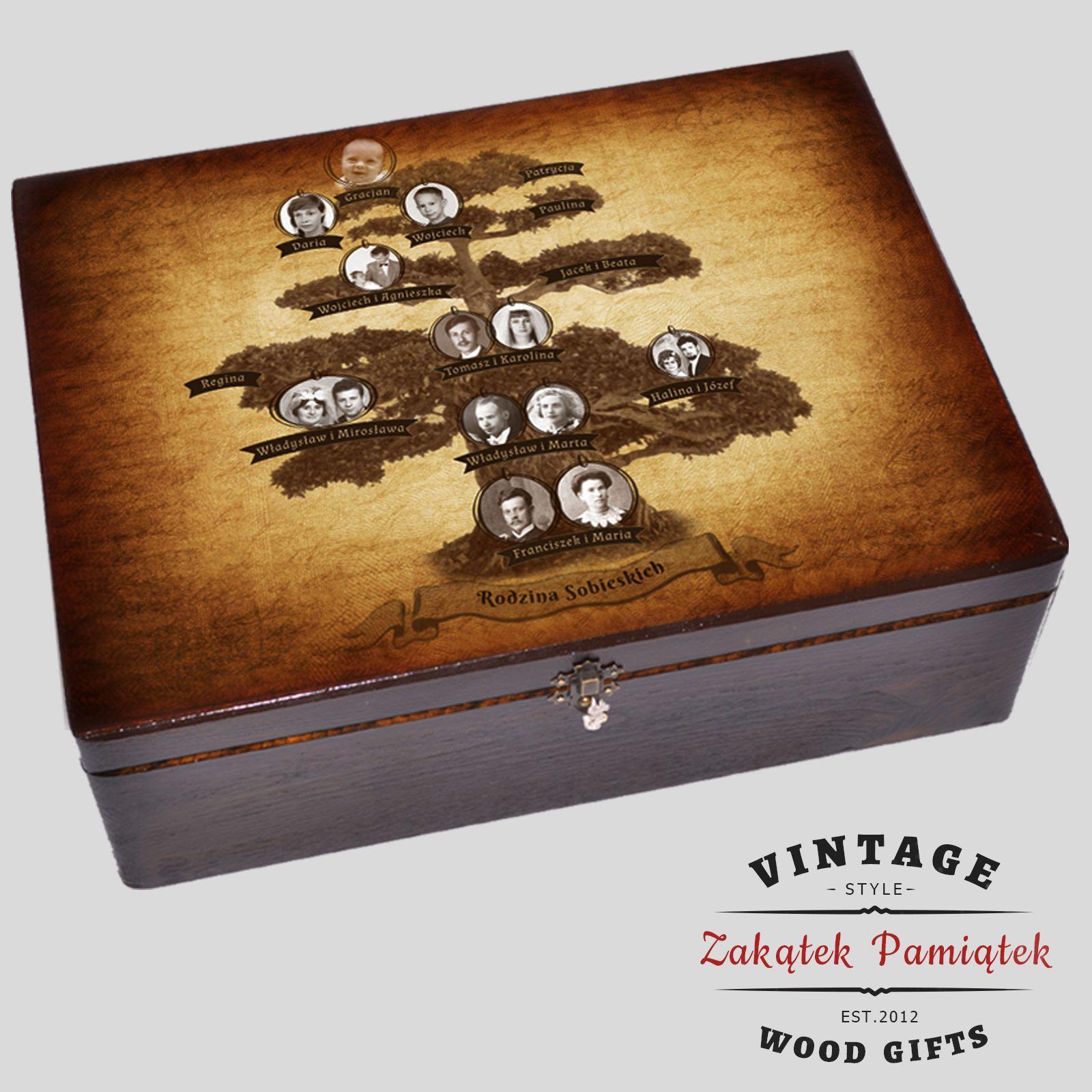 kufer z drzewem genealogicznym