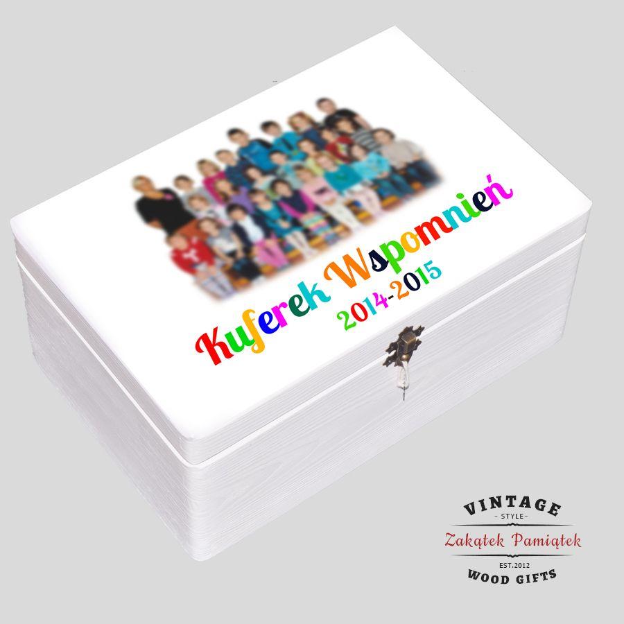 Kuferek biały dla Nauczyciela zdjęcie klasowe