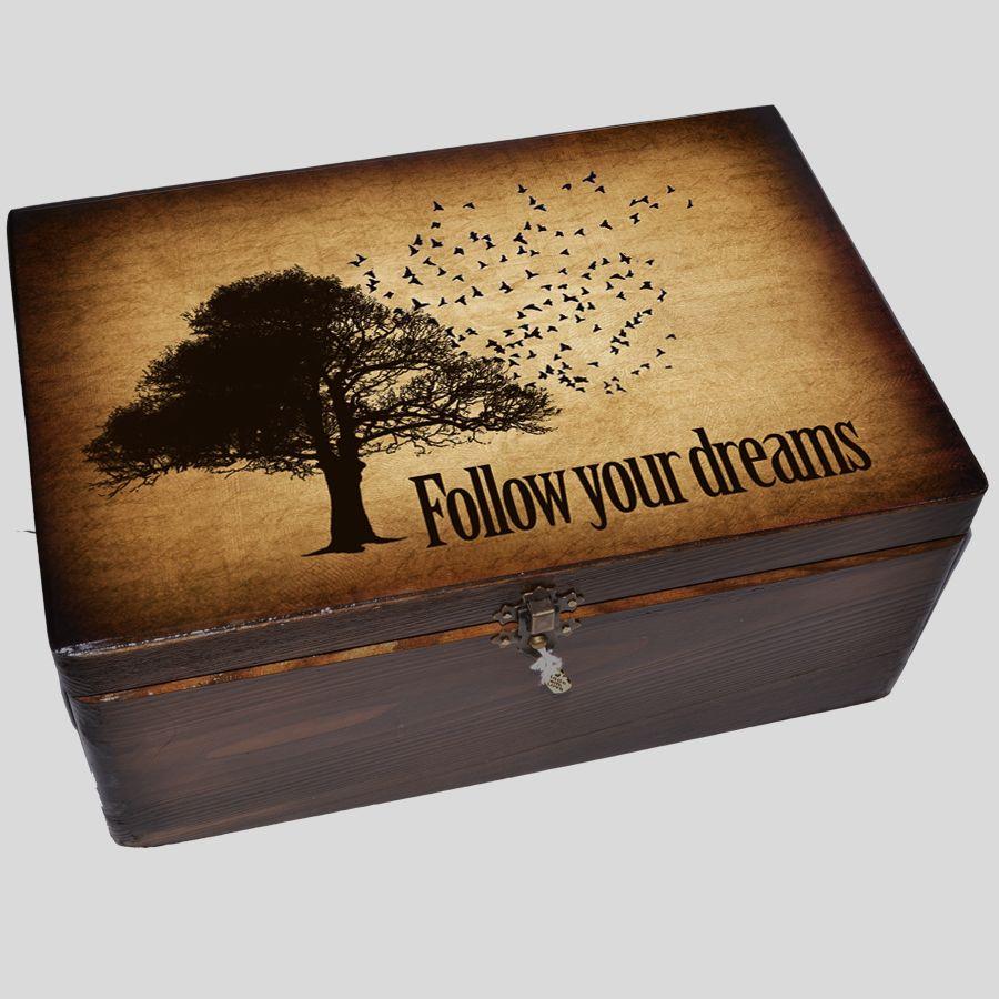 Kuferek Wspomnień drzewo z ptaszkami