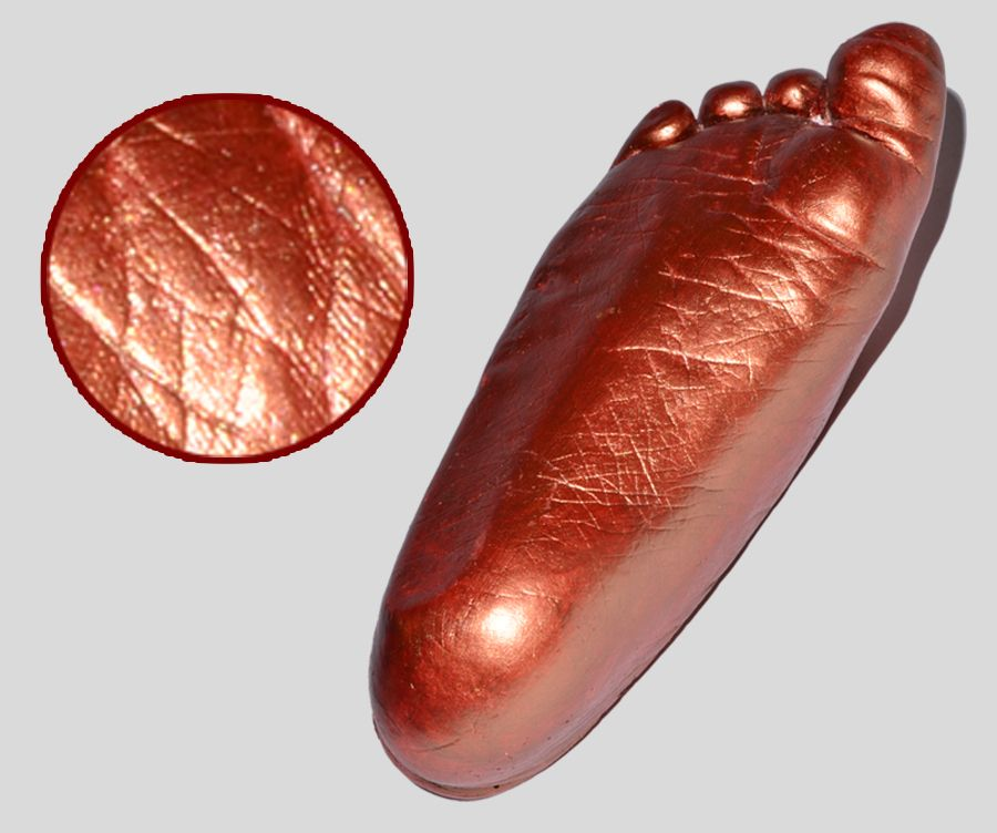 3x odlew gipsowy 3D rączki nóżki