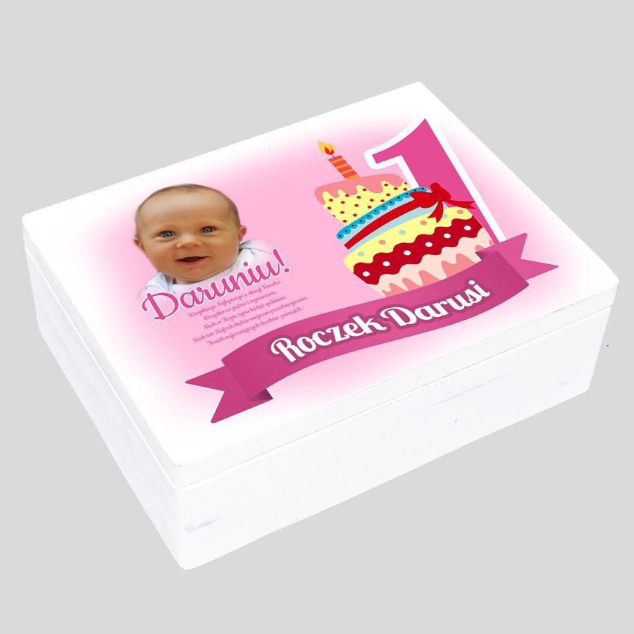 Pudełko wspomnień ze zdjęciem dla dziewczynki