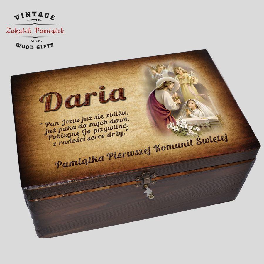 pudełko wspomnień jako pamiątka komunijna dla dziewczynki