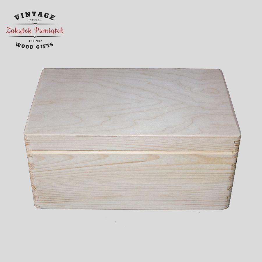 kuferek drewniany