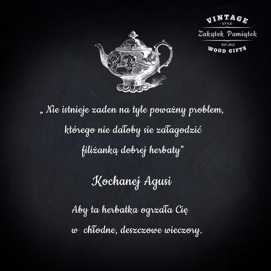 herbaciarka z dedykacją