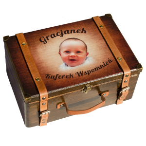 Pudełko ze skórzanymi paskami
