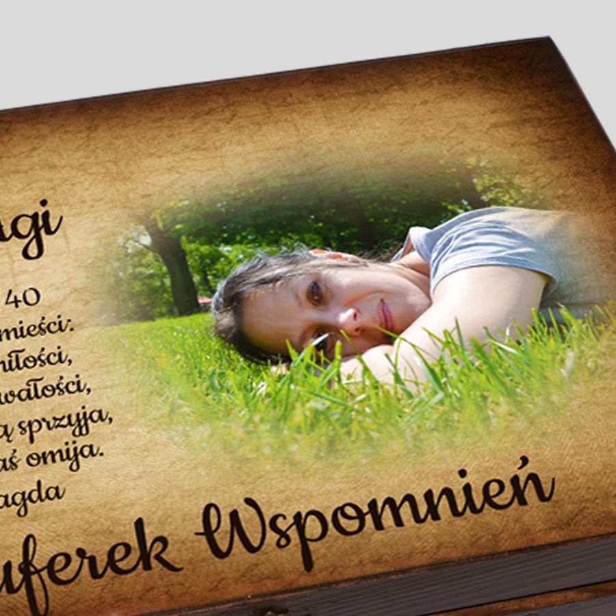 Kuferek Wspomnień ze zdjęciem Urodziny