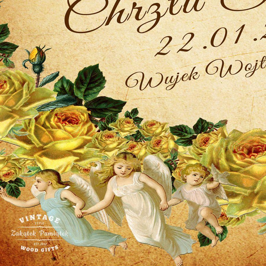 prezent na chrzest, Kuferek Wspomnień ze zdjęciem żółte róże
