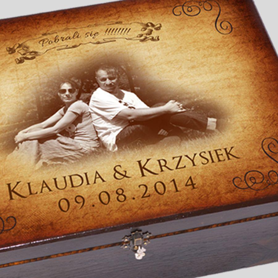 Kuferek Ślubny ze zdjęciem