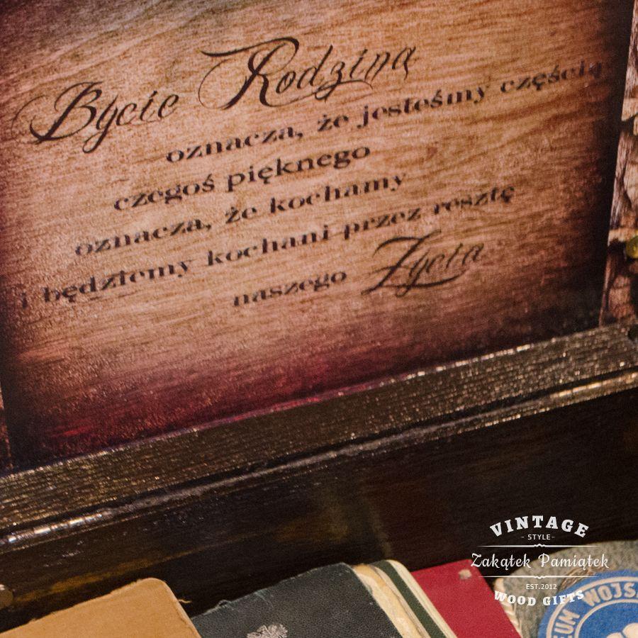 Kuferek dla Babci i Dziadka, prezent dla babci i dziadka, pudełko wspomnień dla seniora