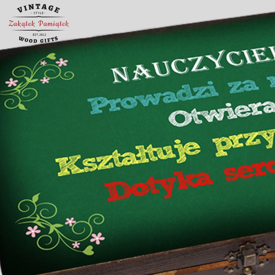 Kuferek tablica zielona Nauczyciel