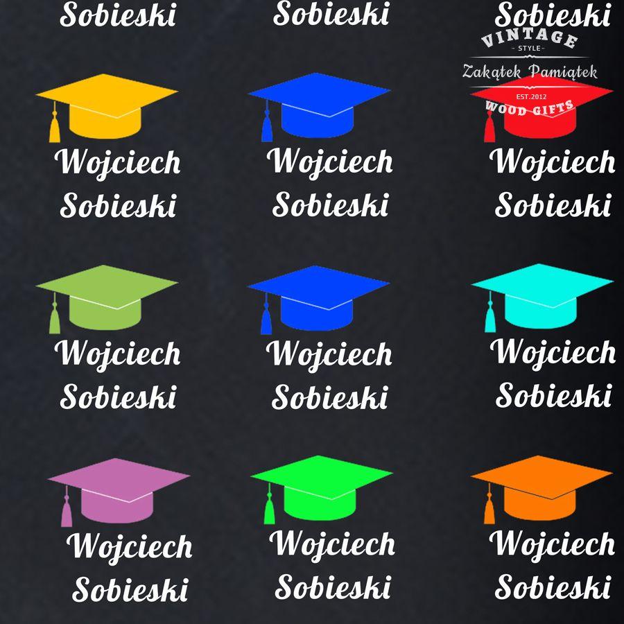 Obraz drukowany na płótnie tło tablicowe czapeczki