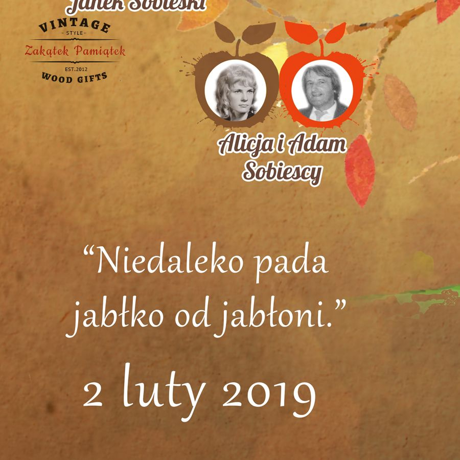 Obraz drukowany na płótnie Drzewo genealogiczne Jabłoń