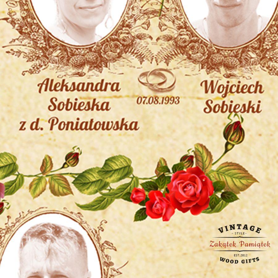 Drzewo genealogiczne Róże obraz drukowany na płótnie