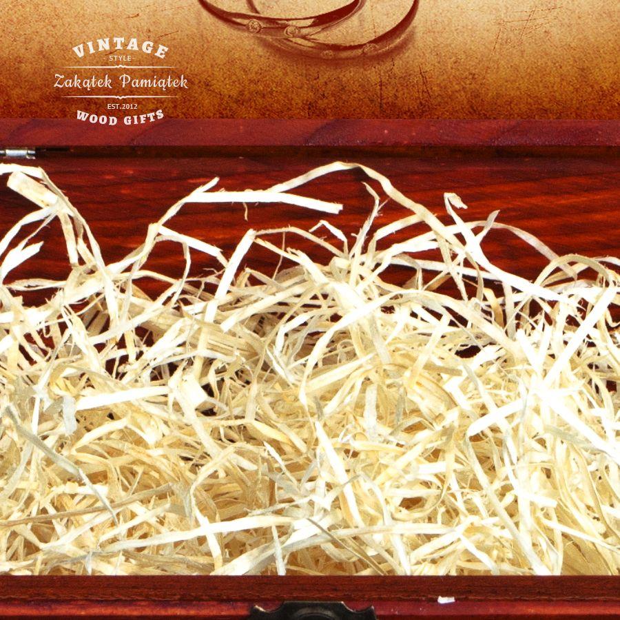Prezent na 18 urodziny pudełko mahoń z bocznymi okuciami